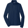 port-authority-women-navy-microfleece-zip