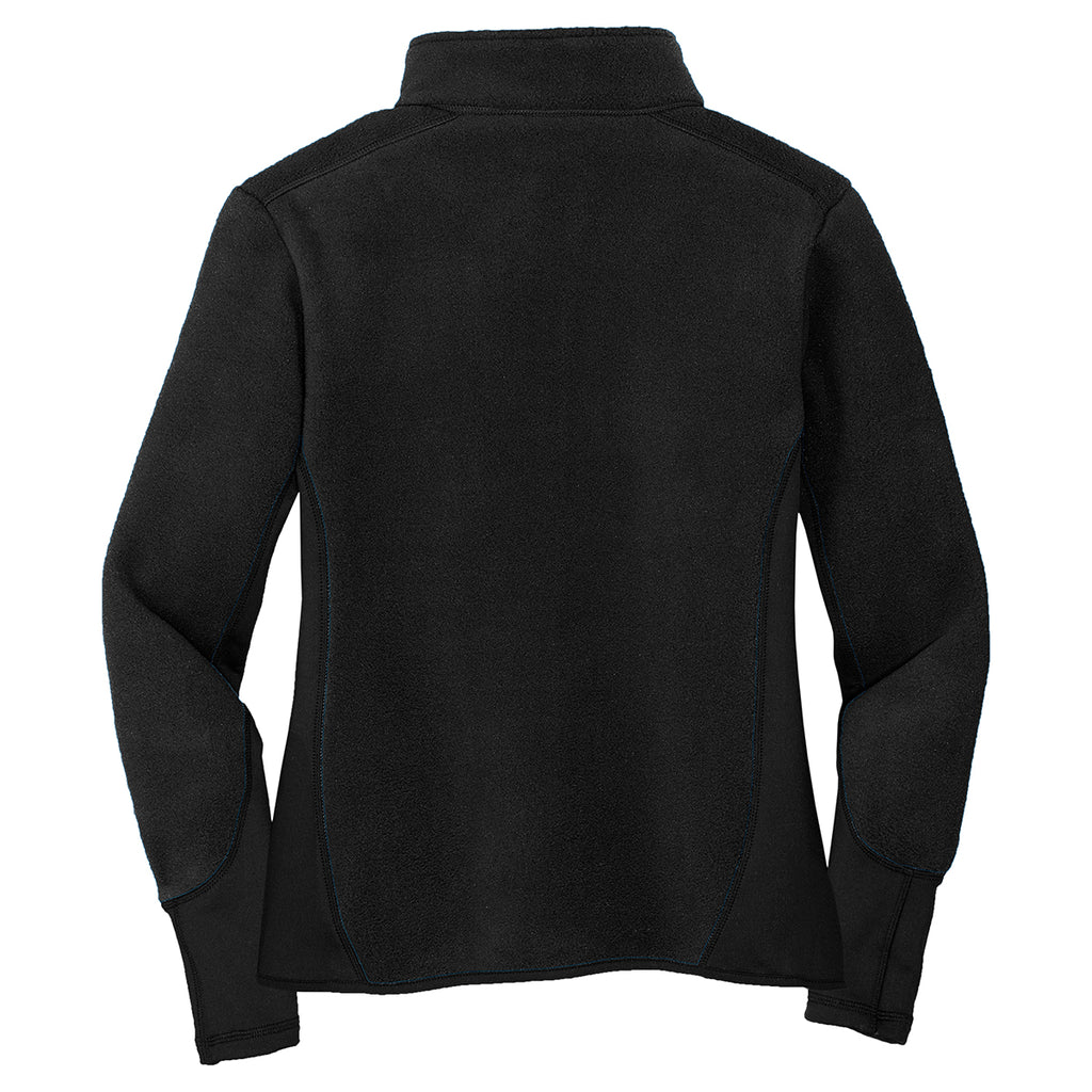 Port Authority Women's Black/Black R-Tek Pro Fleece Full-Zip Jacket