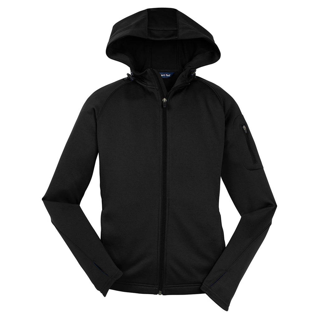Sport Tek Women S Black Tech Fleece Full Zip Hooded Jacket Get ready for winter in our ski jackets, or stay warm in our men's running & sports jackets. merchology