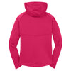Sport-Tek Women's Pink Raspberry Tech Fleece Full-Zip Hooded Jacket