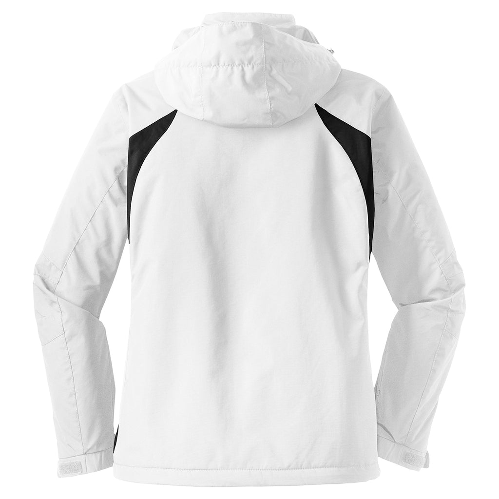 Port Authority Women's White/Black All Season II Jacket
