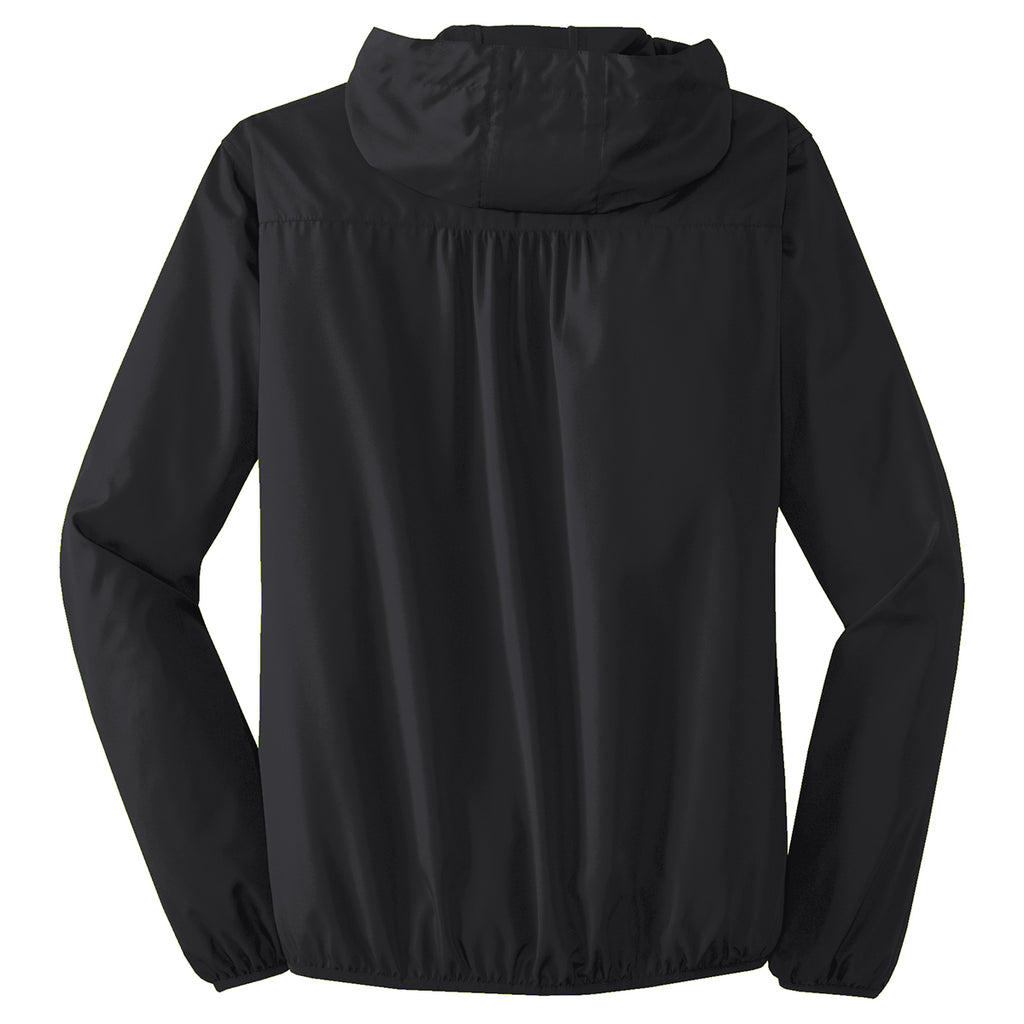 Port Authority Women's Black Hooded Essential Jacket