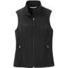 port-authority-women-black-softshell-vest