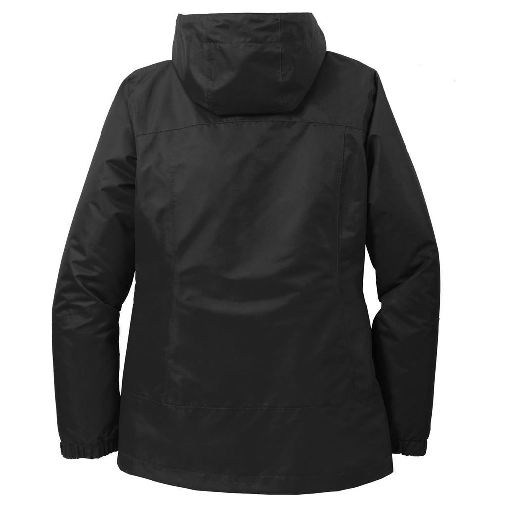 Port Authority Women's Black/Black Vortex Waterproof 3-in-1 Jacket