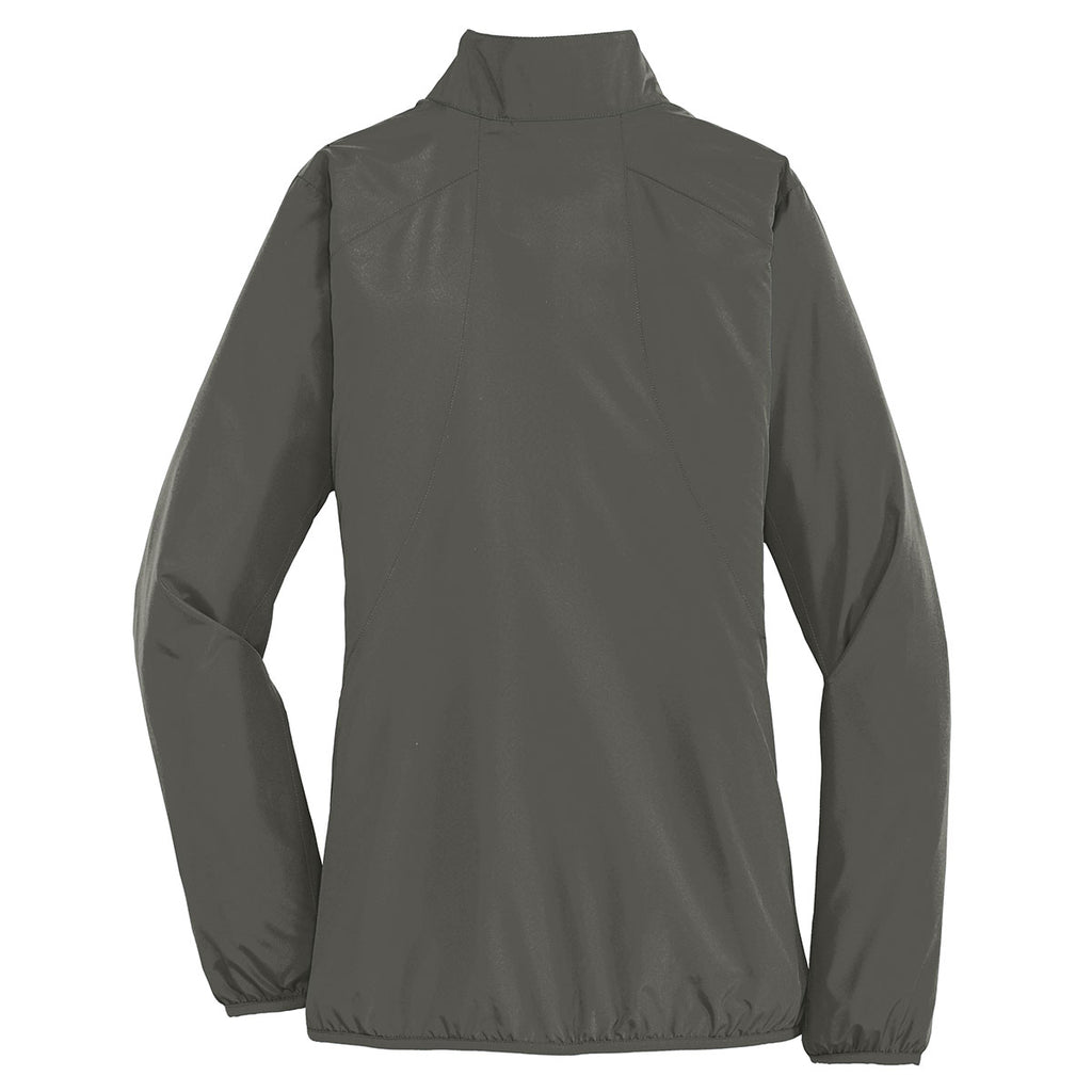 Port Authority Women's Grey Steel Zephyr Full-Zip Jacket