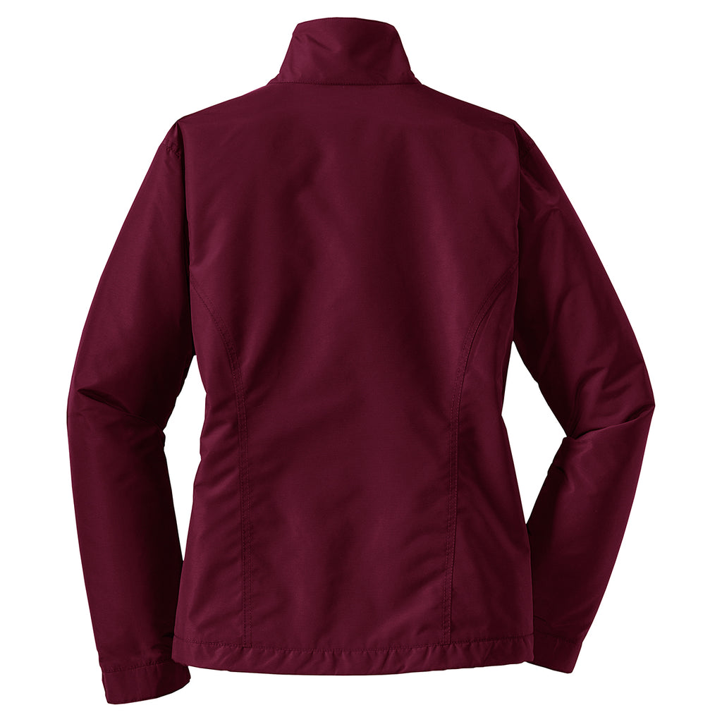 Port Authority Women's Maroon/True Black Challenger Jacket