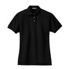 port-authority-womens-black-pique-polo