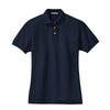 port-authority-womens-navy-pique-polo