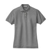 port-authority-womens-grey-pique-polo