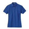 port-authority-womens-blue-pique-polo