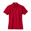 port-authority-womens-red-pique-polo