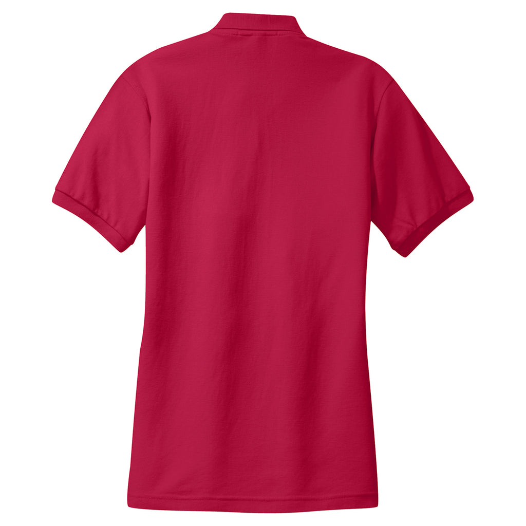 Port Authority Women's Red 65/35 Knit Polo