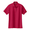 port-authority-womens-red-knit-polo
