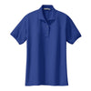 port-authority-womens-blue-knit-polo