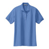 port-authority-womens-light-blue-knit-polo