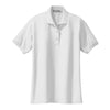port-authority-womens-white-knit-polo