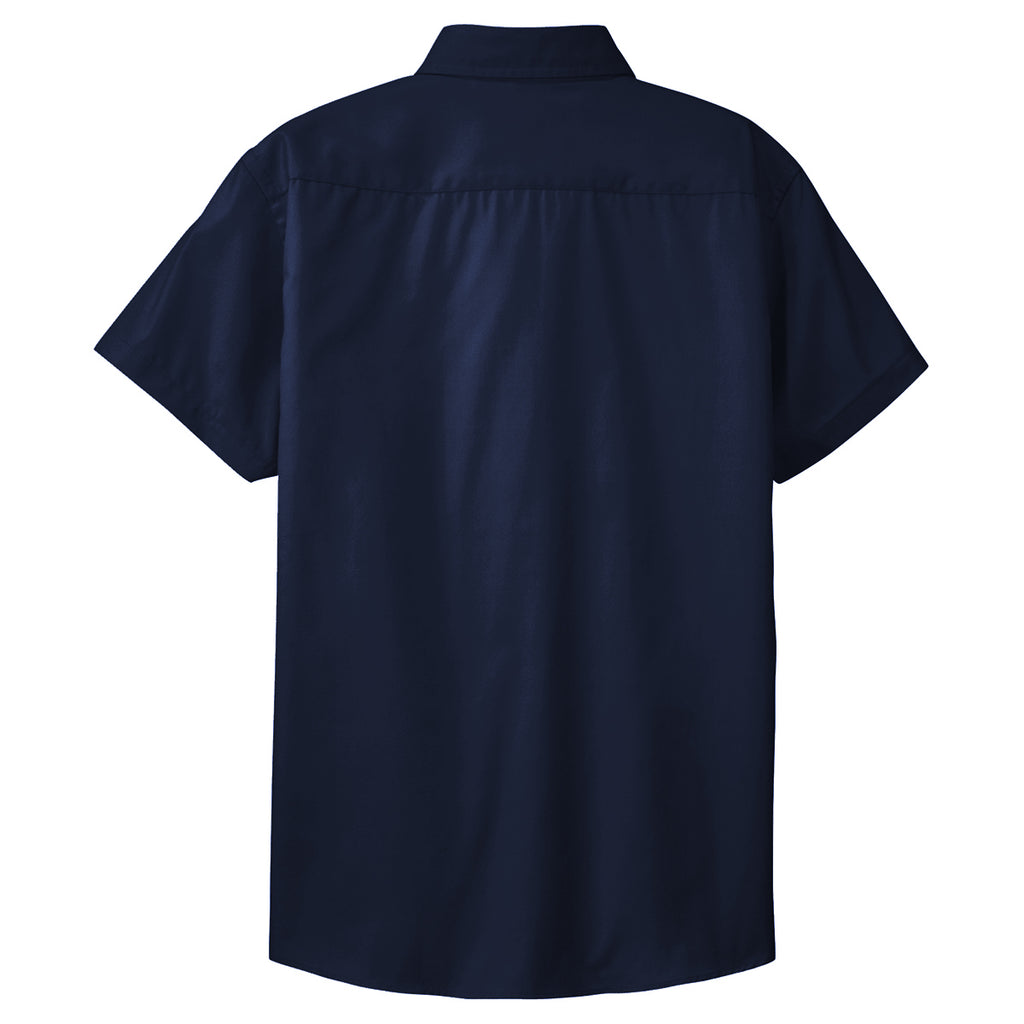 Port Authority Women's Classic Navy/Light Stone Short Sleeve Easy Care Shirt