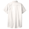 Port Authority Women's White/Light Stone Short Sleeve Easy Care Shirt