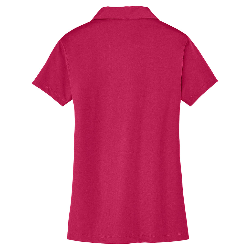 Port Authority Women's Raspberry Pink Tech Pique Polo