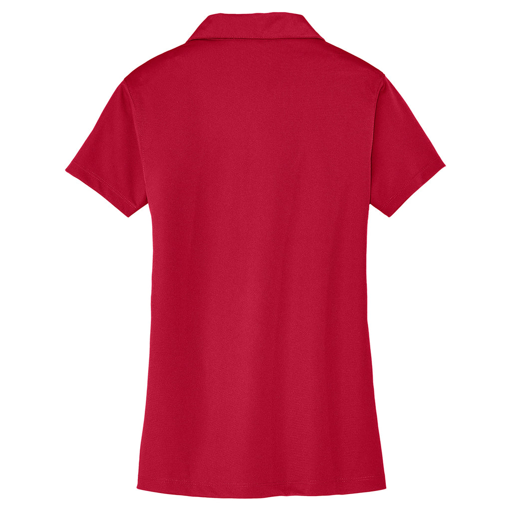 Port Authority Women's Rich Red Tech Pique Polo