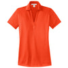 port-authority-women-orange-jacquard-polo