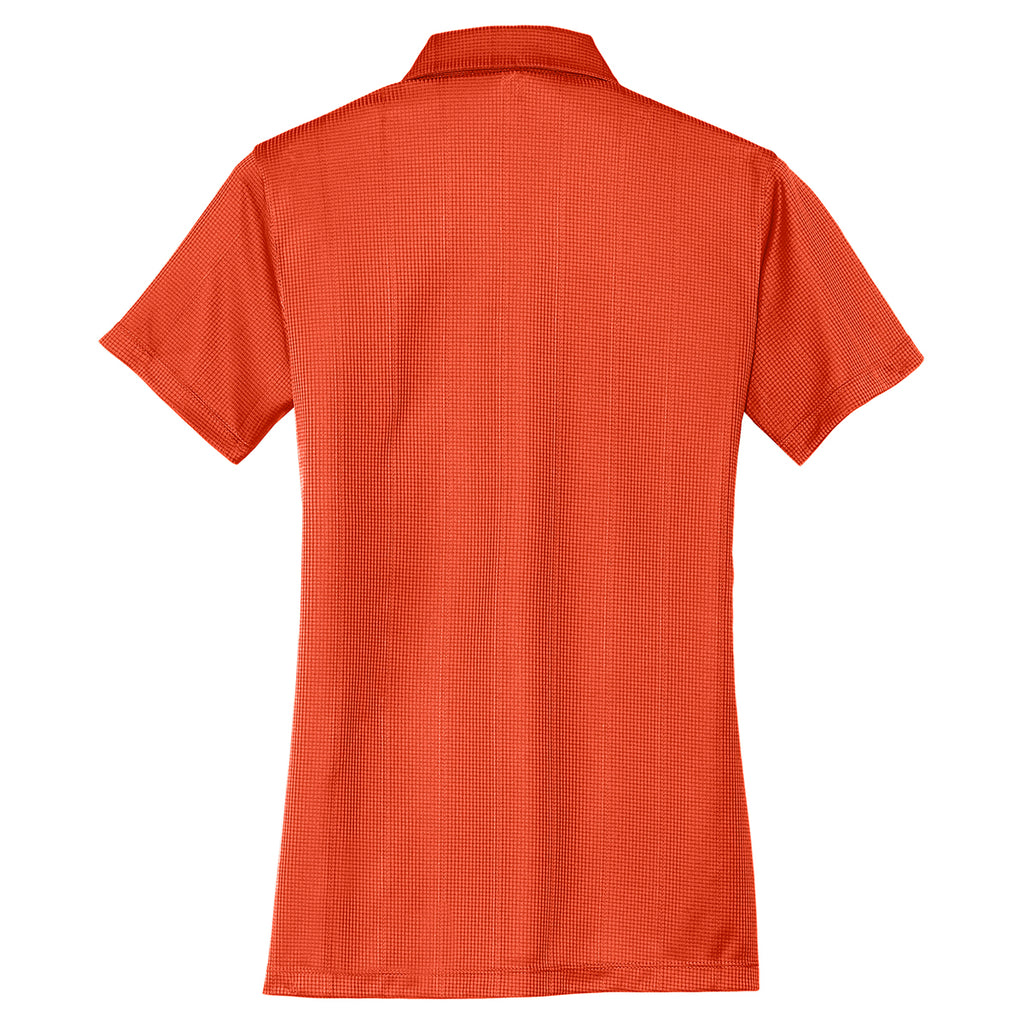 Port Authority Women's Autumn Orange Performance Jacquard Polo