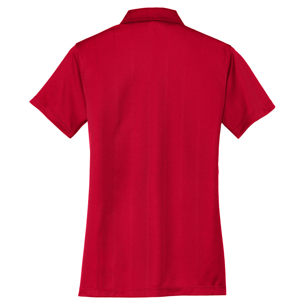 Port Authority Women's Rich Red Performance Jacquard Polo
