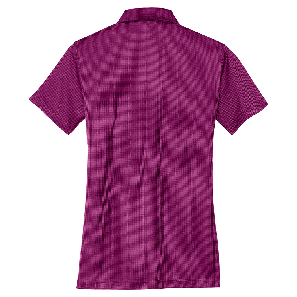 Port Authority Women's Violet Purple Performance Jacquard Polo