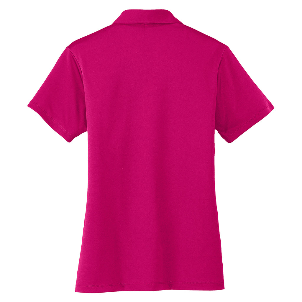 Port Authority Women's Pink Performance Poly Polo