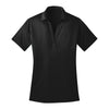port-authority-womens-black-poly-polo