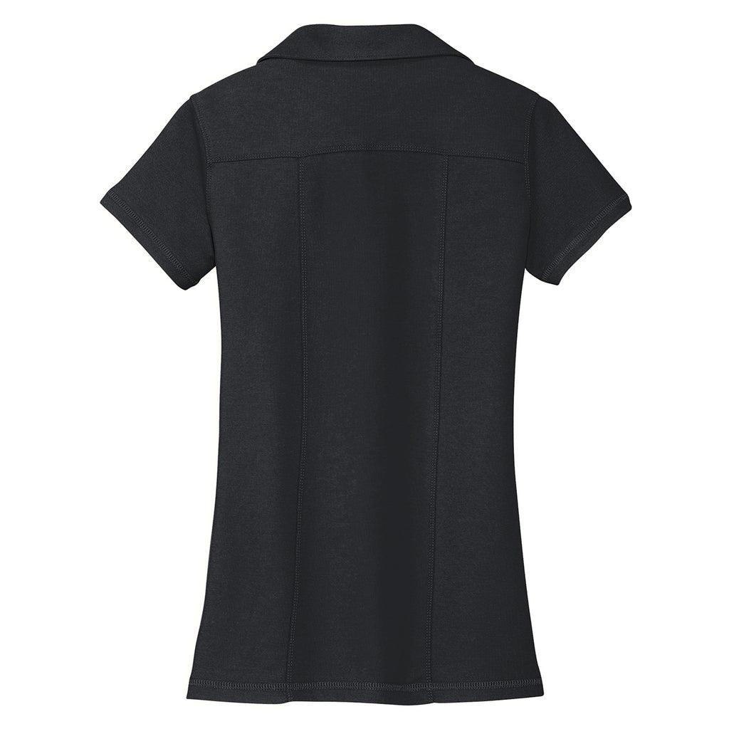 Port Authority Women's Black Modern Stain Resistant Polo