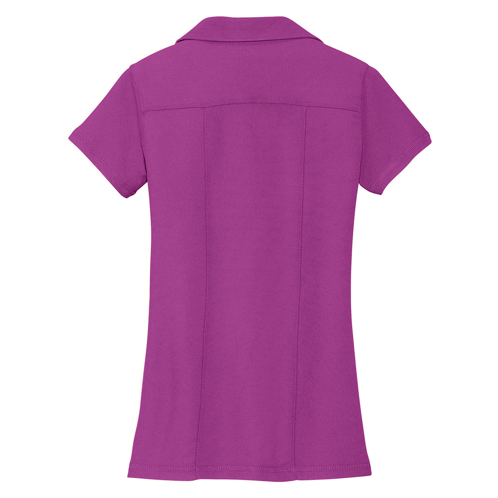 Port Authority Women's Boysenberry Pink Modern Stain Resistant Polo