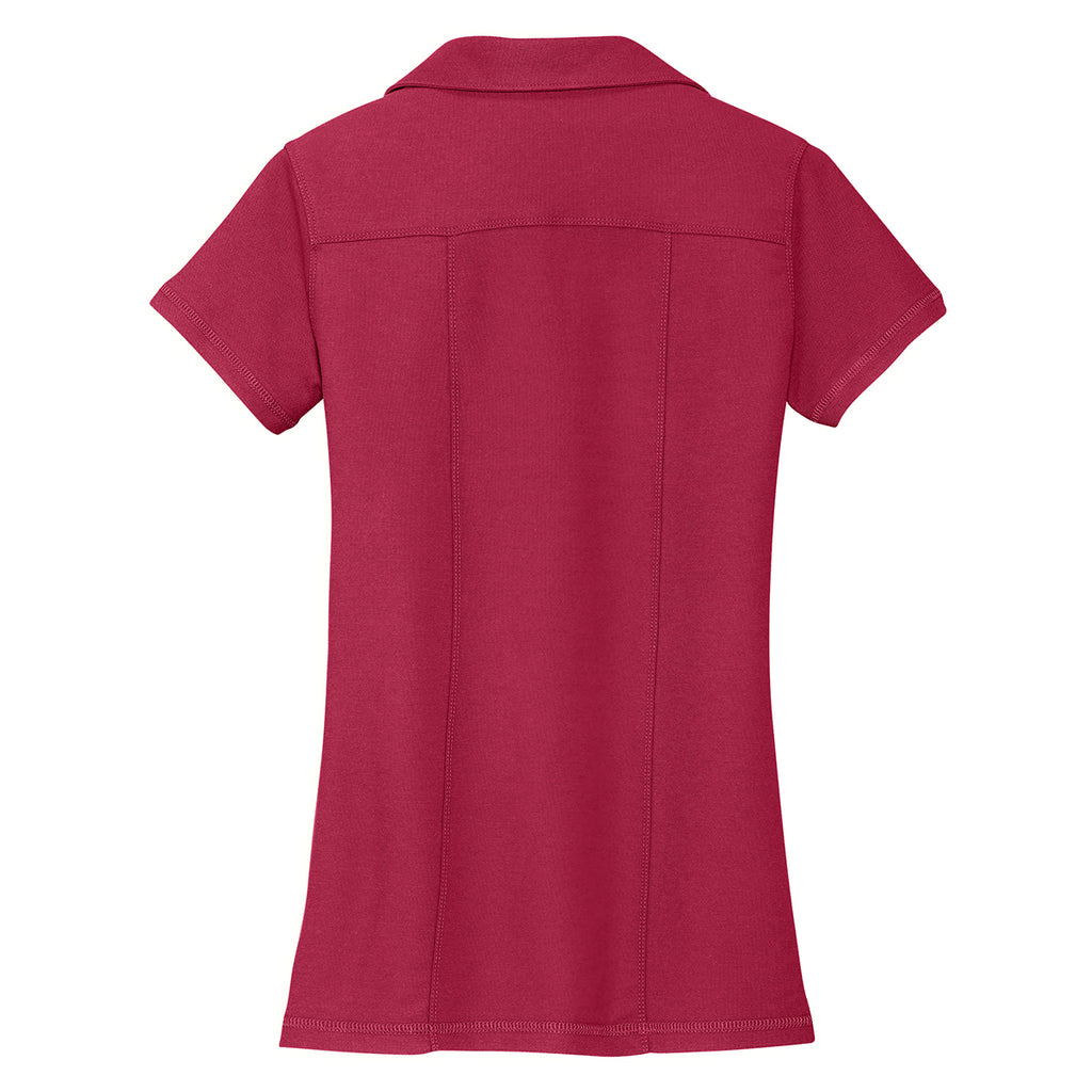 Port Authority Women's Red Modern Stain Resistant Polo