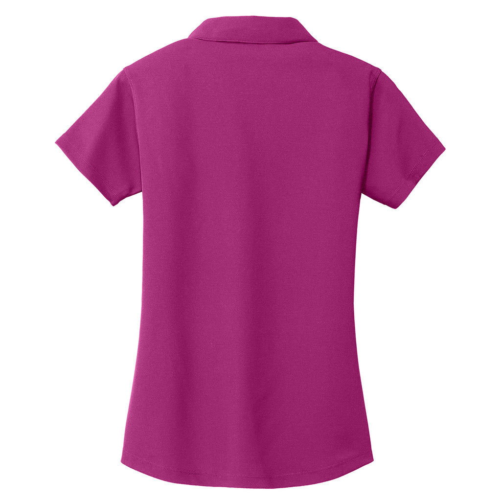 Port Authority Women's Magenta Dry Zone Grid Polo