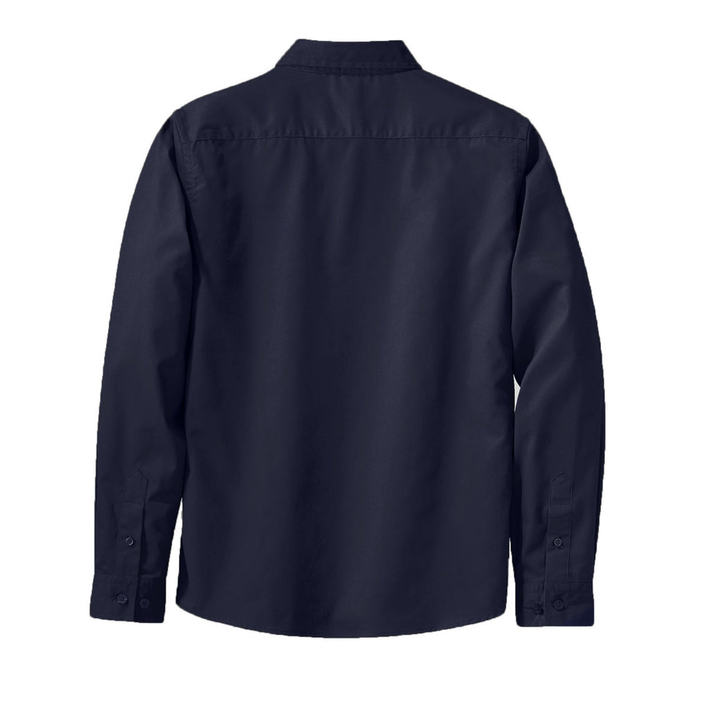 Port Authority Women's Navy L/S Easy Care Shirt