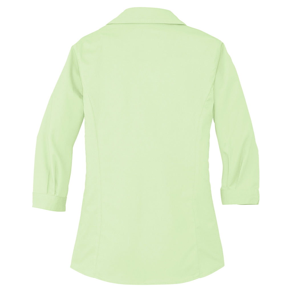 Port Authority Women's Light Green 3/4-Sleeve Blouse