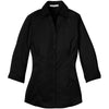 murray-port-authority-womens-black-3-4-sleeve-blouse