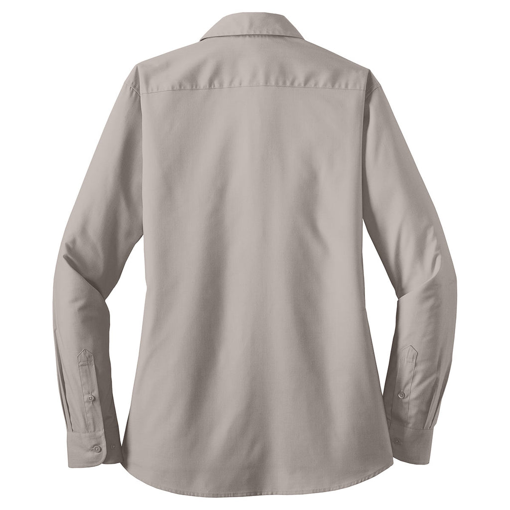 Port Authority Women's Grey L/S Value Poplin Shirt