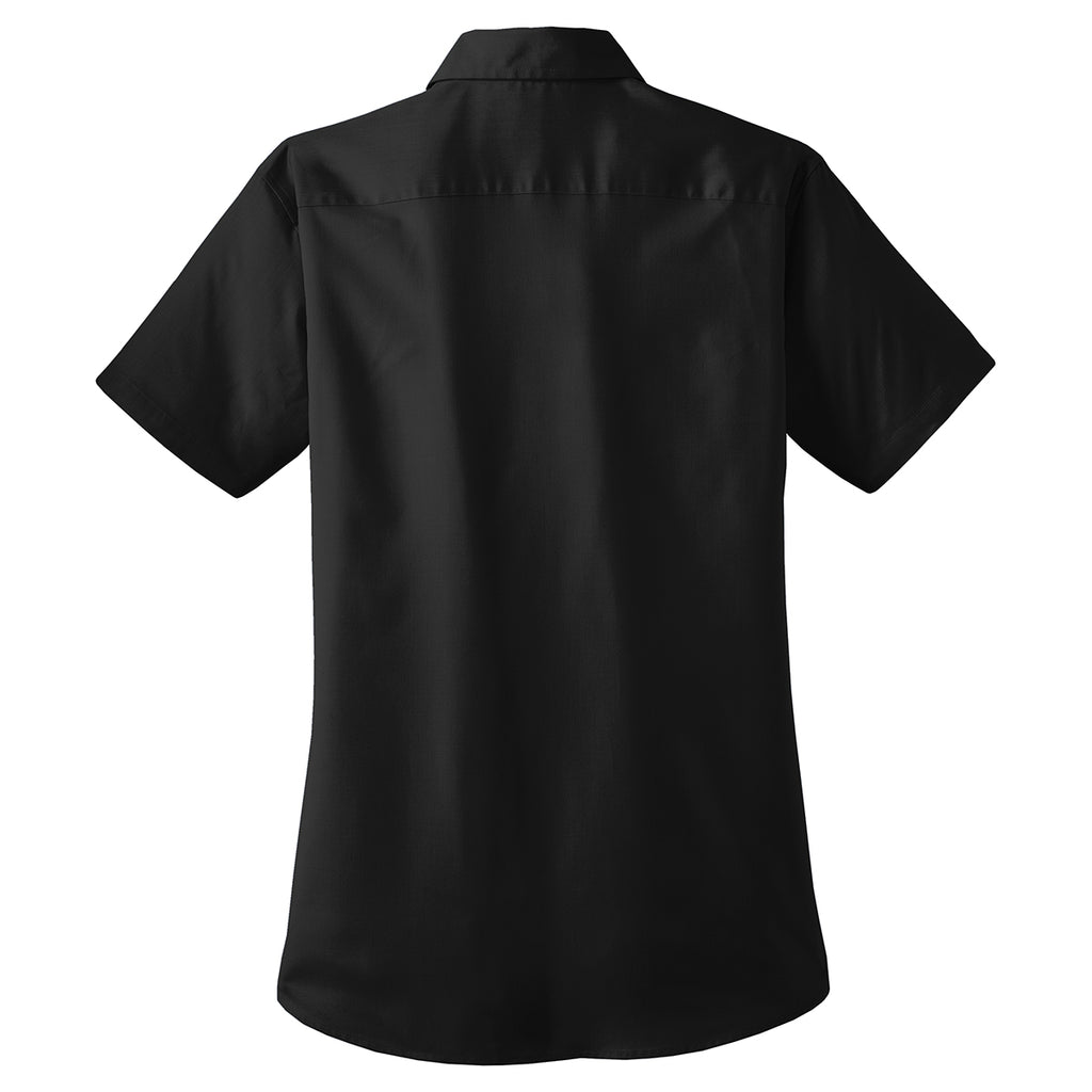 Port Authority Women's Black S/S Value Poplin Shirt