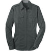 port-authority-women-grey-twill-shirt