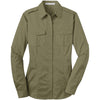 port-authority-women-beige-twill-shirt