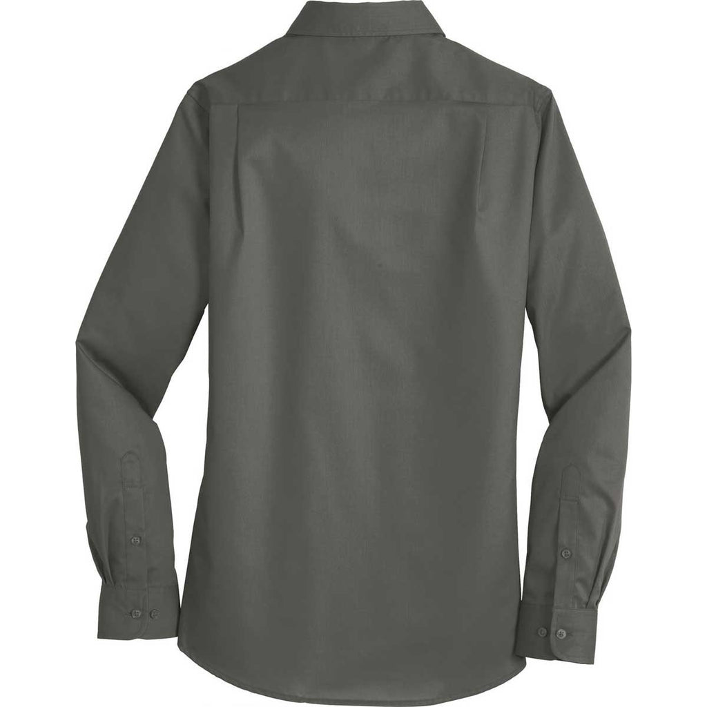 Port Authority Women's Sterling Grey SuperPro Twill Shirt