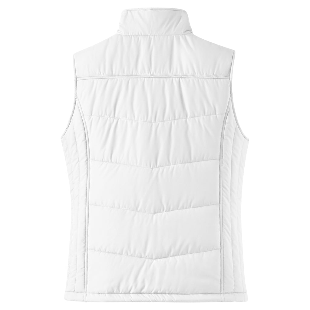 Port Authority Women's White Puffy Vest