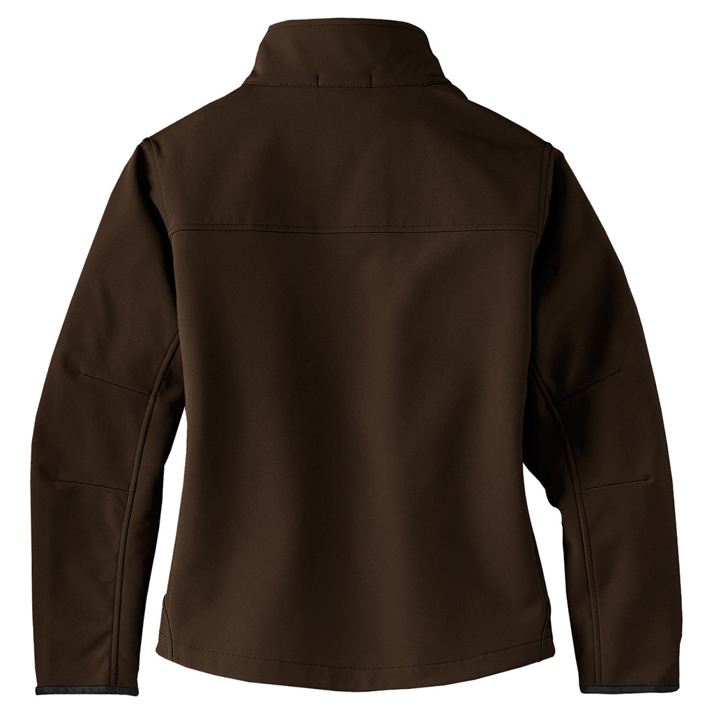 Port Authority Women's Brown/Chrome Glacier Softshell Jacket