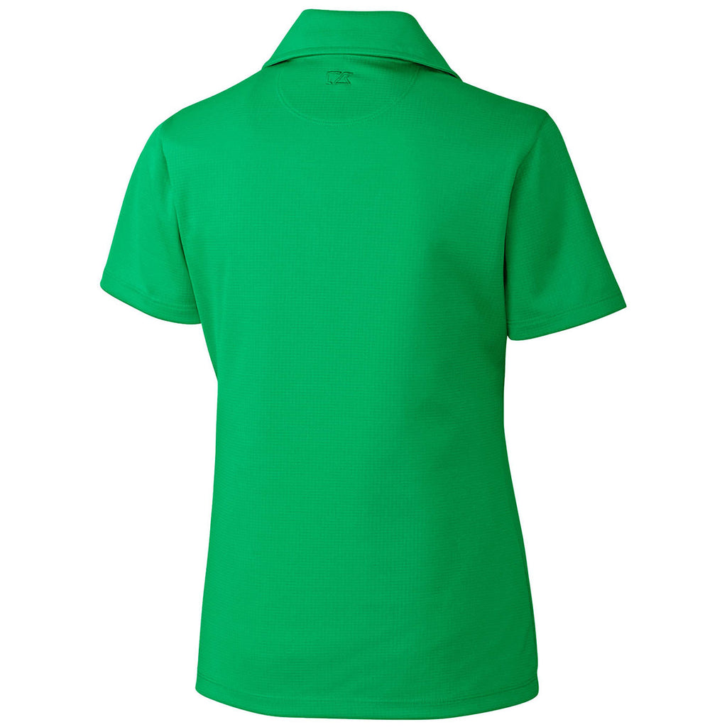 Cutter & Buck Women's Kelly Green DryTec Short Sleeve Genre Polo