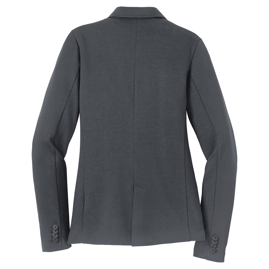 Port Authority Women's Battleship Grey Knit Blazer