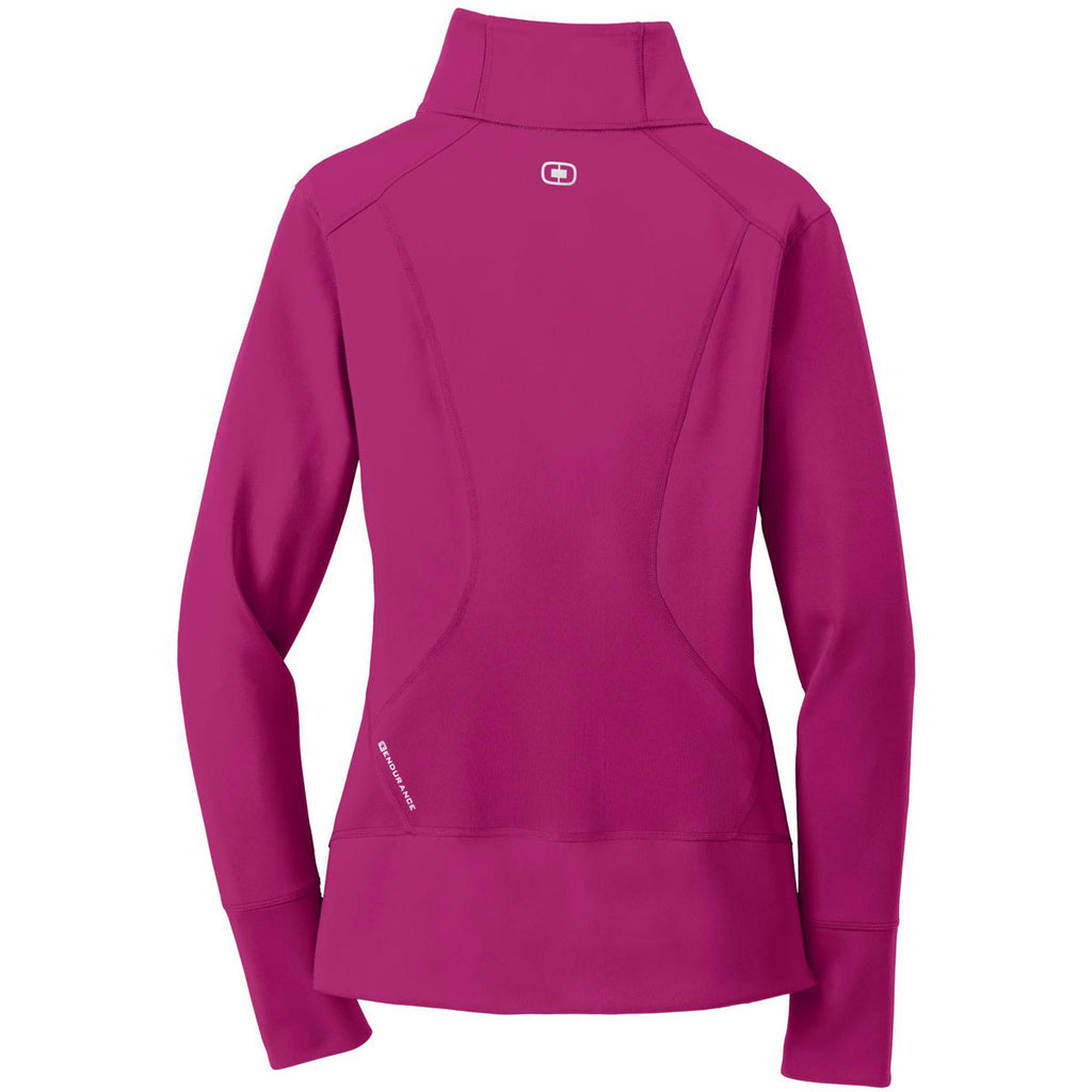 OGIO Women's Flush Pink Endurance Fulcrum Full-Zip