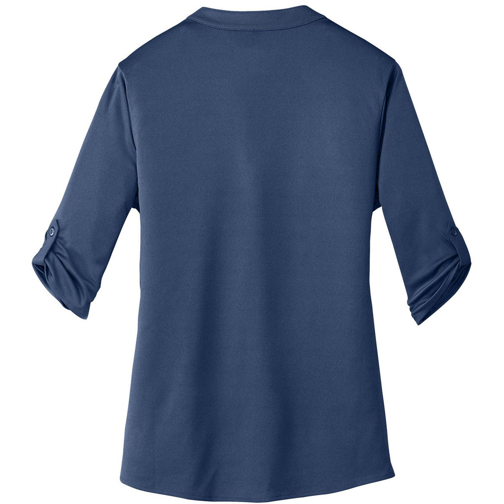 OGIO Women's Blue Indigo Crush Henley