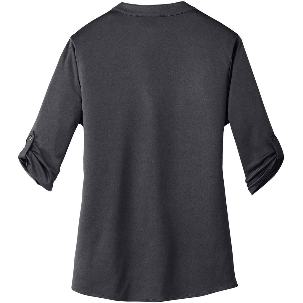OGIO Women's Diesel Grey Crush Henley