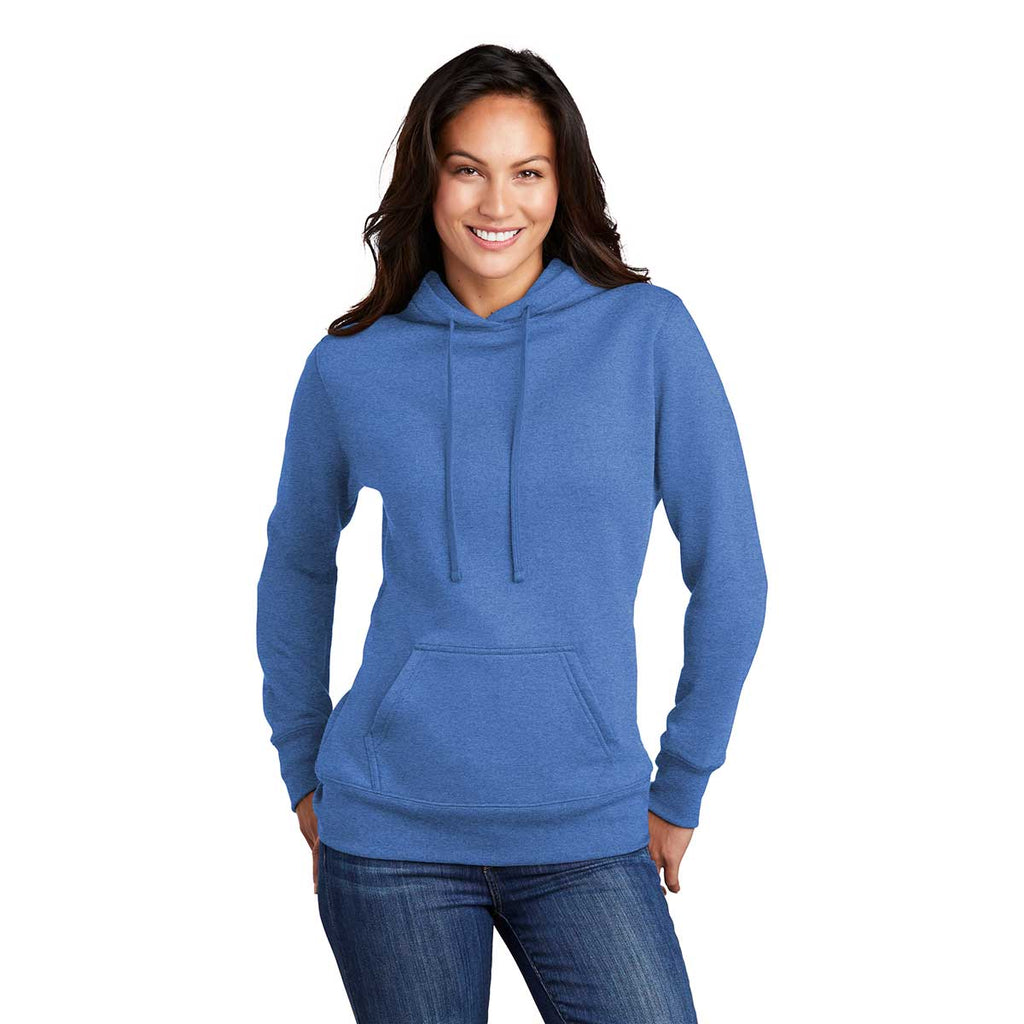 Port & Company Women's Heather Royal Core Fleece Pullover Hoodie